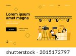 videographers shooting... | Shutterstock .eps vector #2015172797