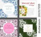 wedding invitation cards with... | Shutterstock . vector #201517355