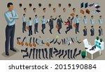large isometric set of gestures ... | Shutterstock .eps vector #2015190884