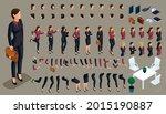 large isometric set of gestures ... | Shutterstock .eps vector #2015190887