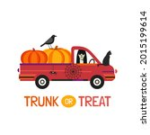 fancy halloween trunk or treat... | Shutterstock .eps vector #2015199614