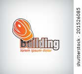 vector building icon with... | Shutterstock .eps vector #201526085