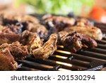 grilling chicken wings on... | Shutterstock . vector #201530294