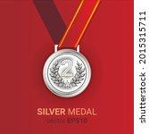silver medal illustration image ...   Shutterstock .eps vector #2015315711
