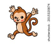 Cute Baby Monkey Cartoon Running