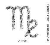 zodiac sign virgo isolated on... | Shutterstock .eps vector #2015338067