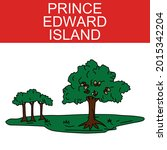 prince edward island symbol... | Shutterstock .eps vector #2015342204