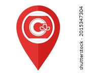 flat map marker icon with... | Shutterstock .eps vector #2015347304