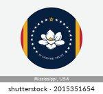 mississippi round circle flag.... | Shutterstock .eps vector #2015351654
