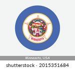 minnesota round circle flag. mn ... | Shutterstock .eps vector #2015351684