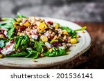 healthy salad with spinach... | Shutterstock . vector #201536141