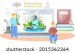 free course of studying ecology ...   Shutterstock .eps vector #2015362364