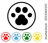 paw flat icon with color...   Shutterstock .eps vector #2015364191
