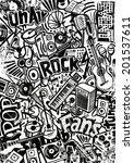 rock and pop doodle | Shutterstock . vector #201537611