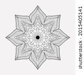 mandala line art with unusual... | Shutterstock .eps vector #2015405141