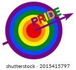 rainbow target. symbol for lgbt ...   Shutterstock .eps vector #2015415797