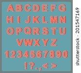 retro type font  vintage... | Shutterstock .eps vector #201547169