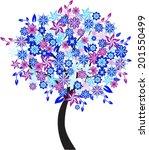 flower tree   Shutterstock .eps vector #201550499