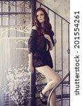 beautiful model in lace... | Shutterstock . vector #201554261