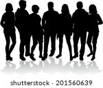 group of people  | Shutterstock .eps vector #201560639