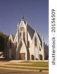 Small photo of The Seventh Day Adventist Church in historic Perris, California.