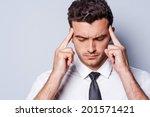 stressed businessman.... | Shutterstock . vector #201571421