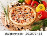supreme pizza | Shutterstock . vector #201573485