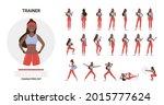 african american black fitness... | Shutterstock .eps vector #2015777624
