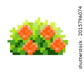 rose bush pixel art. decorative ...   Shutterstock .eps vector #2015796074