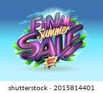 final summer sale banner vector ...   Shutterstock .eps vector #2015814401