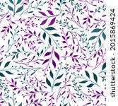 greenery herbal pattern... | Shutterstock .eps vector #2015869424