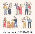 a collection of characters of... | Shutterstock .eps vector #2015948894