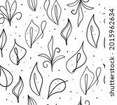 leaves on a white background....   Shutterstock .eps vector #2015962634