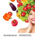 Beauty Girl With Vegetables...