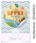 greeting card design  template. ... | Shutterstock .eps vector #201602411