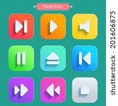 icons for media player. raster...