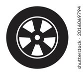 car wheel icon vector for your...