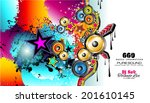 party club flyer for music... | Shutterstock .eps vector #201610145