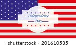 the american flag with some... | Shutterstock .eps vector #201610535
