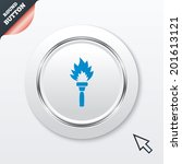 torch flame sign icon. fire...