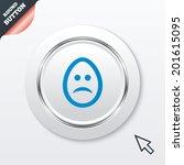 sad easter egg face sign icon....