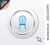 chair sign icon. modern...
