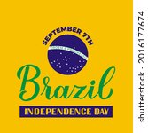 brazil independence day...   Shutterstock .eps vector #2016177674