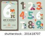 birthday anniversary numbers... | Shutterstock .eps vector #201618707