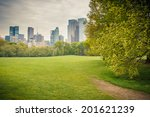 central park at rainy day  new... | Shutterstock . vector #201621239