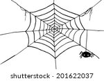 hand draw sketch  spider and... | Shutterstock .eps vector #201622037