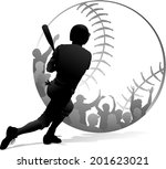 Silhouette Design Of A Batter...