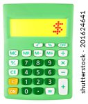 calculator with   on display on ... | Shutterstock . vector #201624641