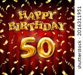 golden number fifty years...   Shutterstock .eps vector #2016311951
