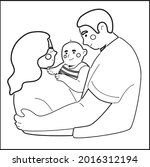 father's day coloring pages.... | Shutterstock .eps vector #2016312194